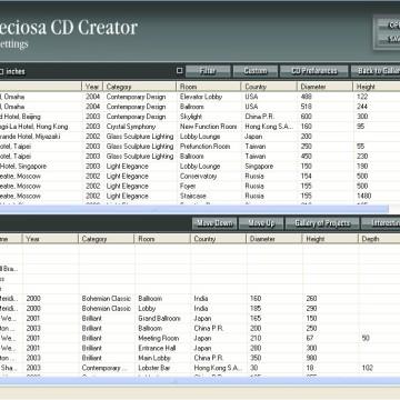 Preciosa Lighting Projects CD-ROM prezentace
