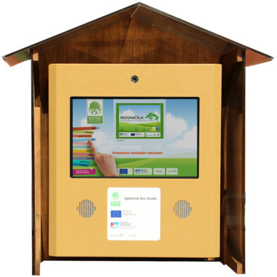 Interaktivní kiosek Rosnička - Semioutdoor s webovou kamerou