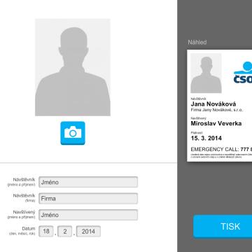 Přístupová aplikace pro kiosky ČSOB