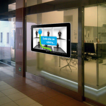 Koncept interaktivní výlohy CEP PRE - montáž, test