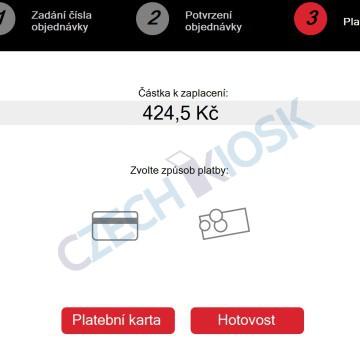 Platební aplikace CashMachine - volba platby