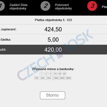 Platební aplikace CashMachine - platba (demo)