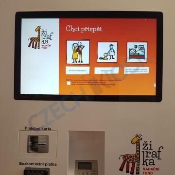 automat wall s bankovním terminálem Ingenicu iUP250
