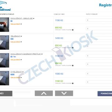 Hotelový automat pension Falconi - GUI rezervace